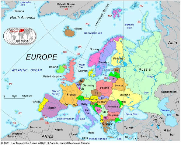 Europe Travels Map